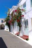 Architecture traditionnelle de village de Chora sur l'île de Kythera, Gre Photographie stock
