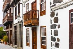 Architecture traditionnelle de village de Los Llanos de Aridane image libre de droits