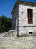 Architecture traditionnelle des montagnes grecques Photo stock