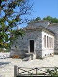 Architecture traditionnelle des montagnes grecques Photographie stock