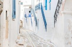 Architecture traditionnelle sur les Cyclades en Grèce Images libres de droits