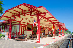 HUAHIN, Thailand : Architecture of train station. Royalty Free Stock Photos