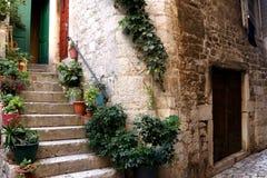 Architecture in Trogir, Croatia stock photos