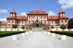 Architecture from Troja chateau Royalty Free Stock Image