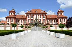 Architecture from Troja chateau Stock Photo