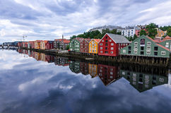 Architecture of Trondheim city Royalty Free Stock Photography