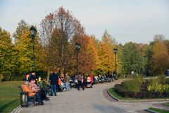 Architecture of Tsaritsyno park in Moscow. royalty free stock photo
