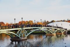 Architecture of Tsaritsyno park in Moscow. stock photography