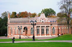 Architecture of Tsaritsyno park, Moscow. Royalty Free Stock Photography