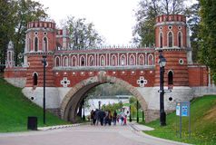 Architecture of Tsaritsyno park, Moscow. Royalty Free Stock Photos