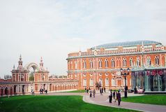 Architecture of Tsaritsyno park, Moscow. Stock Image