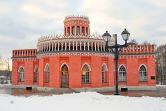 Architecture of Tsaritsyno park in Moscow Royalty Free Stock Photography