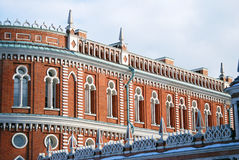Architecture of Tsaritsyno park in Moscow Royalty Free Stock Image
