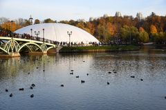 Architecture of Tsaritsyno park in Moscow. stock photos