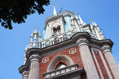 Architecture of Tsaritsyno park in Moscow. The Big Palace. Royalty Free Stock Photography