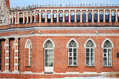 Architecture of Tsaritsyno park in Moscow. Color photo. Royalty Free Stock Image