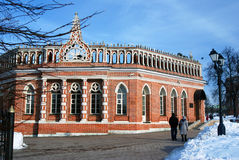 Architecture of Tsaritsyno park in Moscow. Color photo. Stock Images