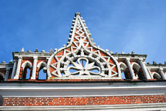 Architecture of Tsaritsyno park in Moscow. Color photo. Stock Image