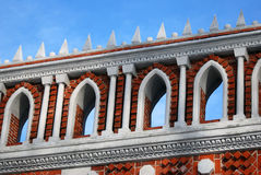 Architecture of Tsaritsyno park in Moscow. Color photo. Royalty Free Stock Images
