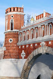 Architecture of Tsaritsyno park in Moscow. Color photo. Stock Photo