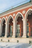 Architecture of Tsaritsyno park in Moscow. Color photo. Royalty Free Stock Photo