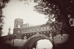 Architecture of Tsaritsyno park, Moscow. Royalty Free Stock Photo