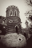 Architecture of Tsaritsyno park, Moscow. Royalty Free Stock Images