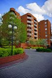 New modern housing estate in Lodz - Typical housing Royalty Free Stock Photos