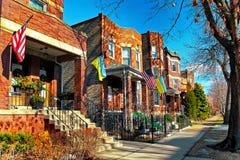 Architecture typique dans le village ukrainien chez Chicago, Etats-Unis Photos libres de droits