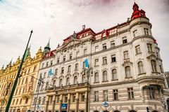 Architecture typique de Prague image libre de droits