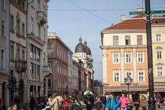 Architecture unique de Lviv Photo stock