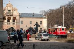 Architecture unique de Lviv Photos libres de droits