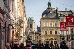 Architecture unique de Lviv Photo libre de droits