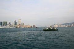 Architecture urbaine en Hong Kong Victoria Harbor Photo stock