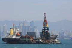 Architecture urbaine en Hong Kong Victoria Harbor Photos stock