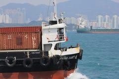 Architecture urbaine en Hong Kong Victoria Harbor Photographie stock libre de droits