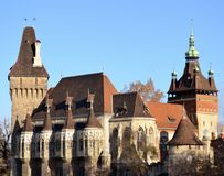 Architecture from Vajdahunyad  castle. And sky Stock Image