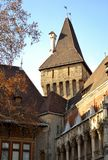 Architecture from Vajdahunyad  castle. And sky Royalty Free Stock Photo