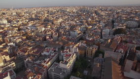 Architecture of Valencia, aerial view. Aerial panorama of the the third largest city in Spain. Valencia and its dense development stock footage