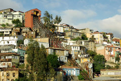 Architecture in Valparaiso, Chile Royalty Free Stock Photo