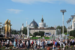 Architecture of VDNKH park in Moscow. Royalty Free Stock Photography