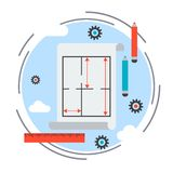 Architecture vector concept Royalty Free Stock Photography