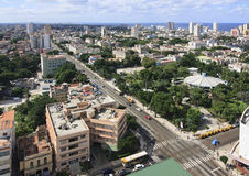 Architecture in Vedado district. Architecture in Vedado district of Havana. Cuba. View from the top Stock Photos