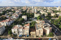 Architecture in Vedado district. Royalty Free Stock Photos