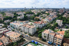 Architecture in Vedado district. Royalty Free Stock Image