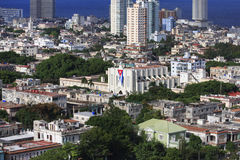 Architecture in Vedado district. Stock Photo