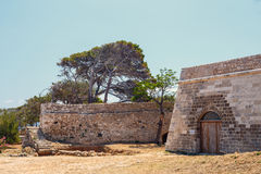 Architecture of Venetian fortress Fortezza in Rethymno on Crete, Greece Royalty Free Stock Photography