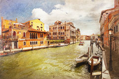 Architecture of Venice. Italy. Royalty Free Stock Images