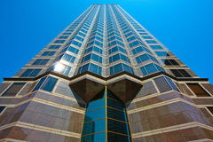 Architecture of a vertical building. Royalty Free Stock Image