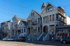Architecture victorienne en San Francisco California Etats-Unis Architecture des bâtiments résidentiels avec façades colorées image stock